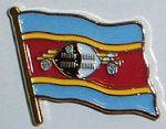 Swaziland Country Flag Enamel Pin Badge